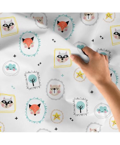 Tkanina bawełniana Zwierzaki Obrazy