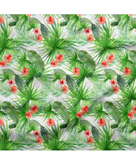 Tkanina bambusowa Liście Tropikalne