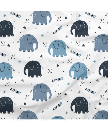 Tkanina bawełniana Słonie III