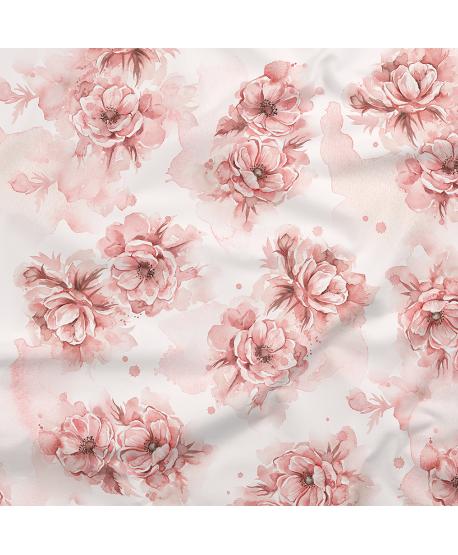 Tkanina bawełniana Kwiaty Anemony