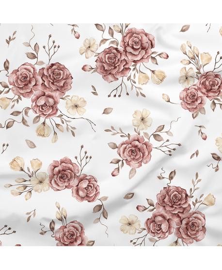Tkanina bawełniana Róże