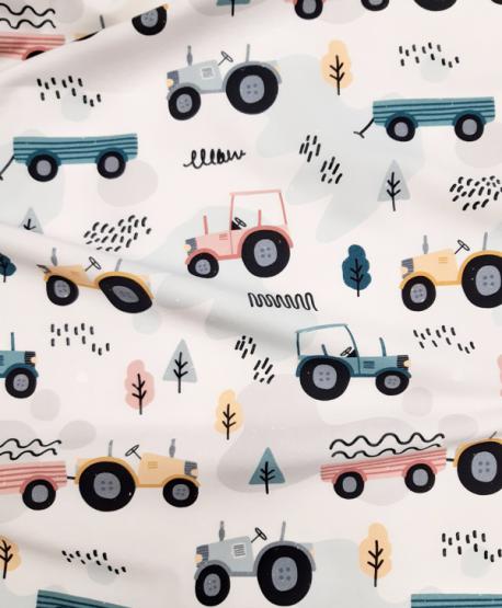 Tkanina bawełniana Traktory