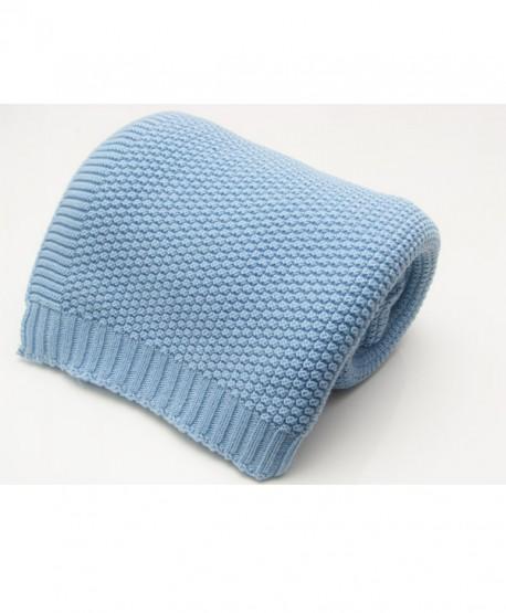 Kocyk dziany bawełniany błękit R