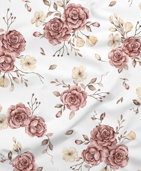 Tkanina bambusowa Róże