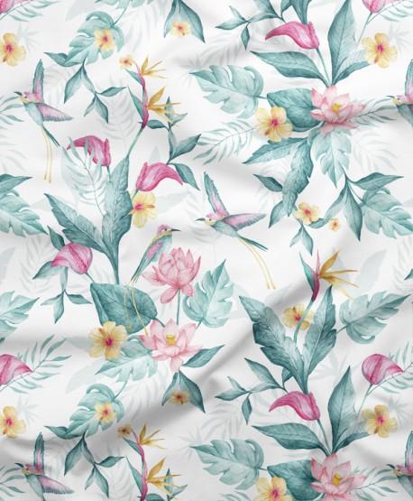 Tkanina bawełniana Kwiaty Egzotyczne