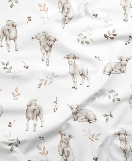 Tkanina bawełniana Owieczki