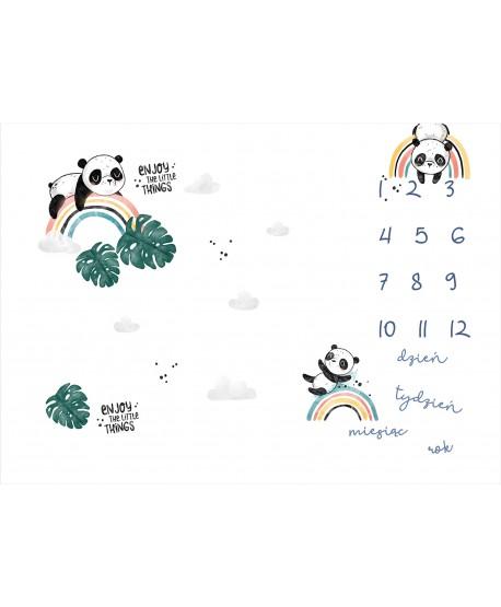 Panel na foto matę Panda Monstera