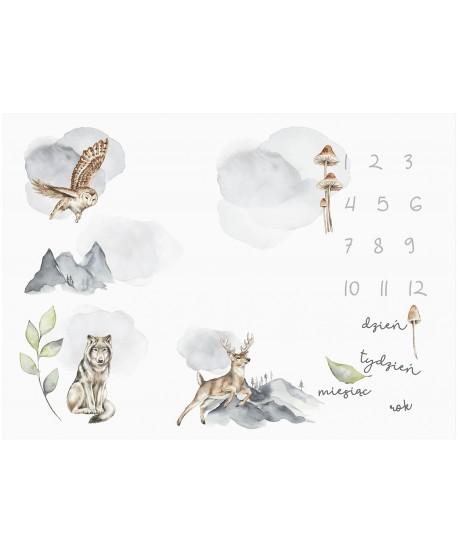 Panel na foto matę Zwierzaki Leśne