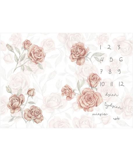 Panel na foto matę Róże z odbiciami