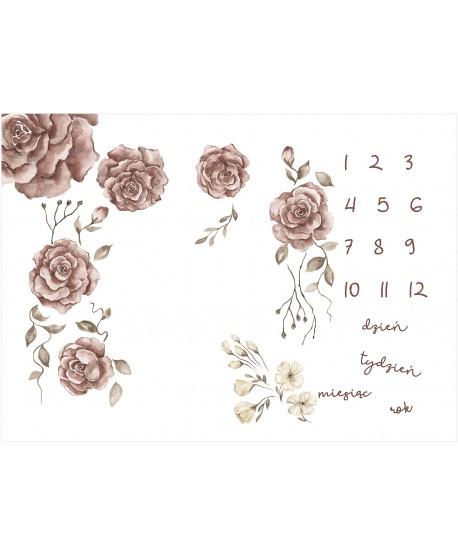 Panel na foto matę Róże malowane