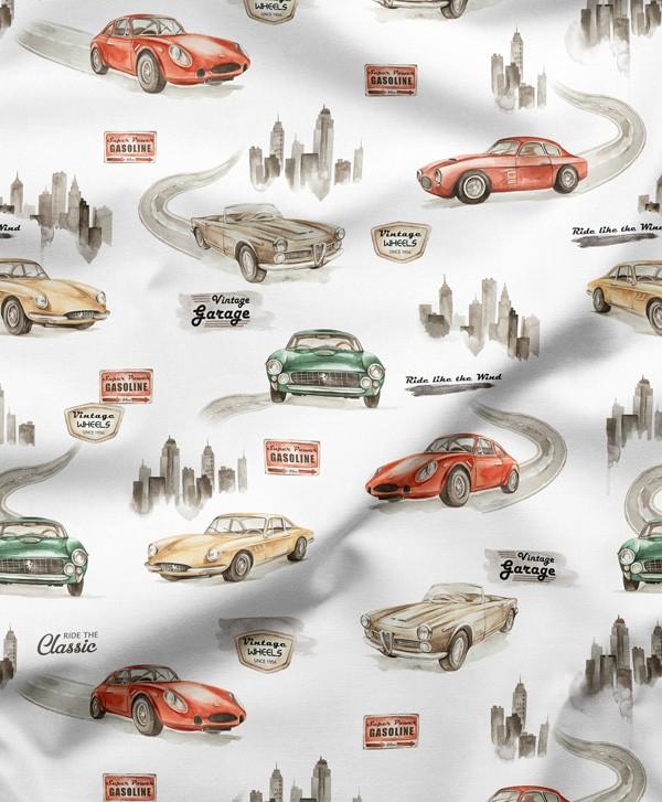 Tkanina bawełniana CARS