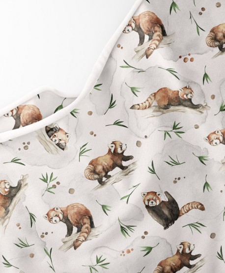 Dzianina dresowa Panda Czerwona