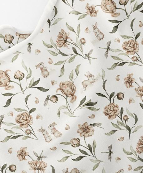 Dzianina dresowa Ivory Flowers