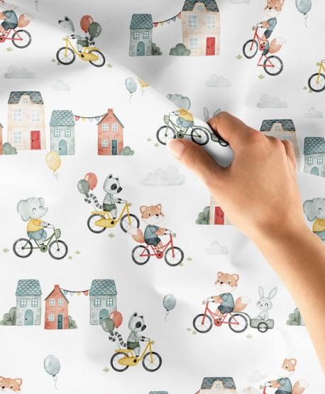Tkanina bawełniana Bike Friends