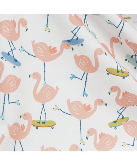 Tkanina bawełniana Flamingi III