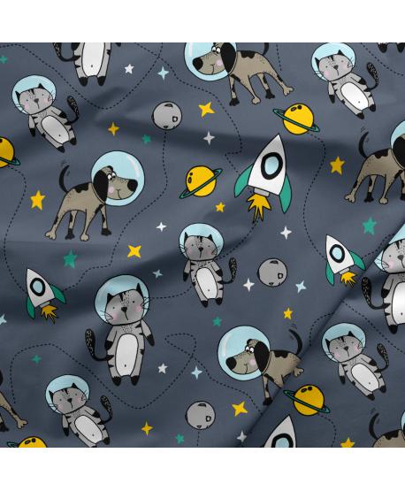 Tkanina bawełniana Pies Astronauta