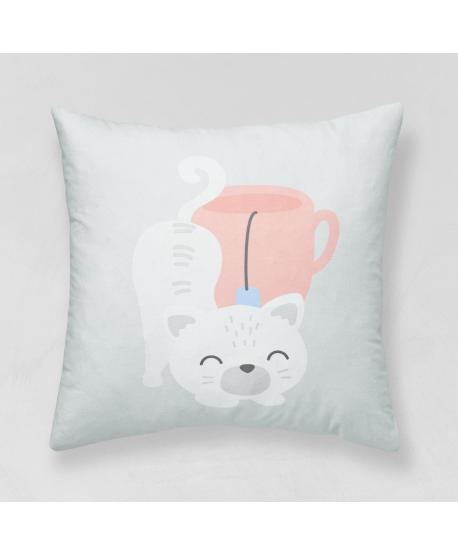 Panel poduszkowy Kotek z filiżanką