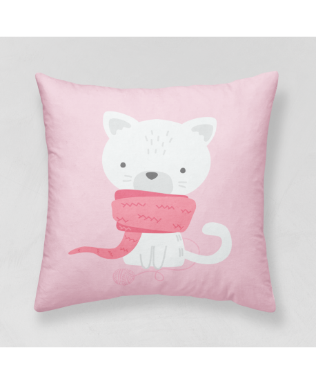 Panel poduszkowy Kotek z szalem