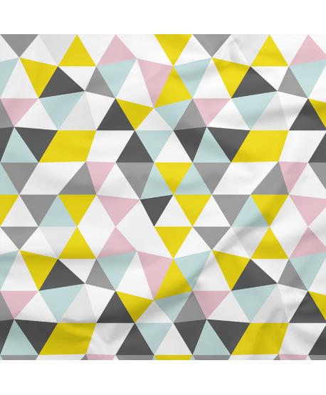 Tkanina poliestrowa Trójkąty 3D