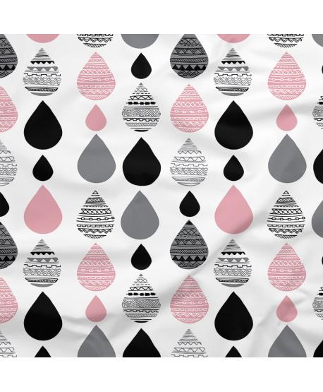 Tkanina poliestrowa Krople różowe