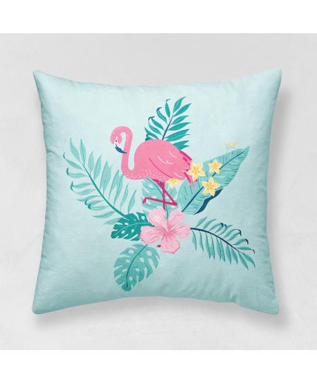 Panel poduszkowy Flamingi miętowe