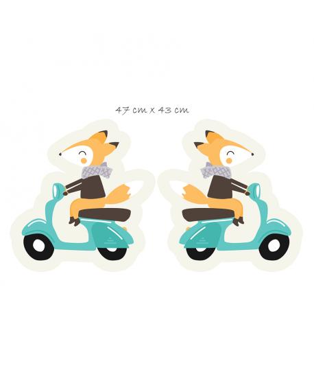 Panel na maskotkę Lis na skuterze