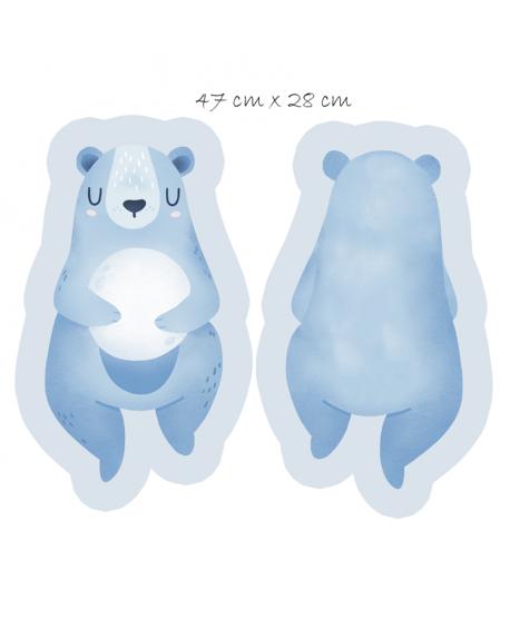 Panel na maskotkę Miś na niebieskim